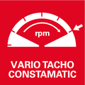 Vario-Tacho-Constamatic (VTC) - полноволновая электроника с регулировочным колесом для работы с числом оборотов в зависимости от материала, остающимся неизменным под нагрузкой