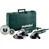 Набор болгарок METABO WE 2200-230 + W 750-125 + Пластиковый кейс + 2 отрезных диска, SET (685172510)