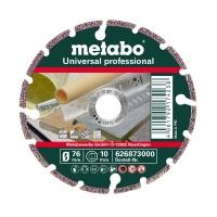 Алмазный отрезной круг METABO «PROFESSIONAL» универсальный, 76 х 1,2/2,2 х 10 мм, «UP»  (626873000)