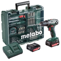 Дрель-шуруповерт аккум. METABO BS 14.4 (набор аксессуаров, 74шт) (602206880)
