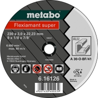 Отрезной круг METABO Flexiamant Super, алюминий, A 30-О, 150 x 3 x 22,23 мм (616753000)