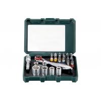 """Коробка с инструментальными насадками и комплект трещоток METABO """"SP"""" 26 предметов (626701000)"""