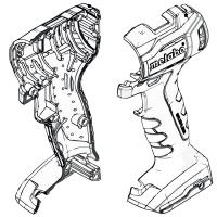 Корпус с крышкой METABO для дрелей-шуруповертов PowerMaxx (343447490)