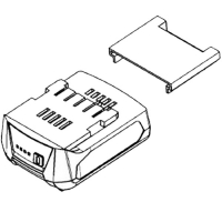 Крышка аккумуляторного блока METABO для дрелей-шуруповертов SB, GB, BS, PowerMaxx; ударных гайковертов SSD, SSW; угловых шлифмашин W, WF, WP, WPB, WB; заклепочныч пистолетов NP; дрелей-миксеров RW; картриджных пистолетов KPA; кромкофрезеров KFM; ленточных шлифмашин BF (343439680)