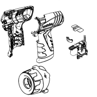Корпус с выключателем (корпус + кнопка) METABO для дрелей-шуруповертов PowerMaxx BS (316052060)