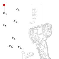 Винты со сферо-цилиндрической головкой METABO для дрелей-шуруповертов BS, BZ, BSZ, BSP, GB, SB, SBZ; дрелей BE; ударных гайковертов SSD, SSW; угловых шлифмашин W,  WF, WPF, WP, WPB, WB; кромкофрезеров KFM; ленточных шлифмашин BF (141113180)