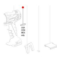 Индикаторная этикетка METABO 40x14 для дрелей-шуруповертов BS 18 LTX Quick; SB 18 (338121750)