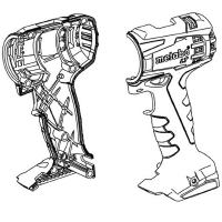 Корпус с крышкой METABO для дрелей-шуруповертов BS 18; BS 14.4; SB 18 (343431110)
