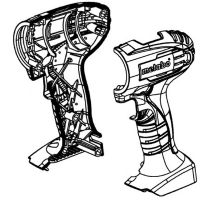 Корпус с крышкой METABO для дрелей-шуруповертов BS 12 NiCd, SB 18 (343395130)