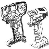 Корпус с крышкой METABO для дрелей-шуруповертов BS 18; BS 14.4; SB 18; SB 14.4 (343394820)
