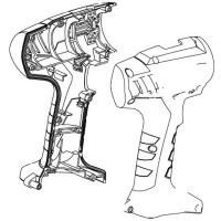 Корпус с крышкой в сборе METABO для дрелей-шуруповертов BS 12 NiCd (316051870)
