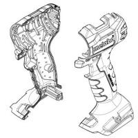 Корпус с крышкой METABO для дрелей-шуруповертов BS 18; SB 18 (343447600)