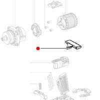 Переключатель-слайдер (лево/право) METABO для дрелей-шуруповертов BS; GB; SB; ударных гайковертов SSD (343433260)