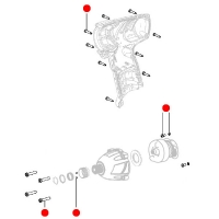 Набор винтов METABO для ударных гайковертов PowerMaxx SSD (316048040)
