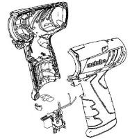 Корпус с крышкой METABO для ударных гайковертов PowerMaxx SSD (316096130)