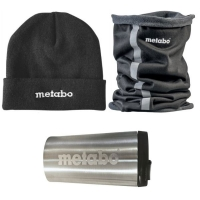 Набор шапка, шарф и термокружка METABO с логотиром (657038000)