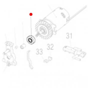 Радиальный шарикоподшипник 8 х 22 х 7 METABO для лобзиков STA (143113400)