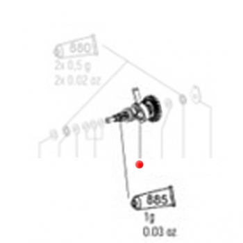 Вал шестерни в сборе METABO для перфораторов BHA (316040510)