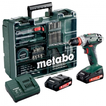 Дрель-шуруповерт аккум. METABO BS 18 Quick Set Mobile Workshop (набор аксессуаров)