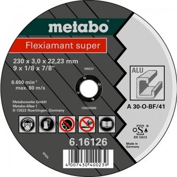 Отрезной круг METABO Flexiamant Super, алюминий, A 30-О, 150 x 3 x 22,23 мм (616753000)