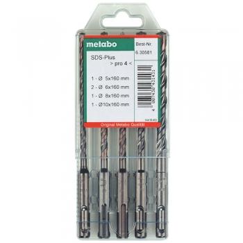 Набор буров METABO SDS-Plus Pro 4 из 5 предметов  (630581000)