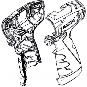 Корпус с крышкой METABO для дрелей-шуруповертов PowerMaxx (316054770)