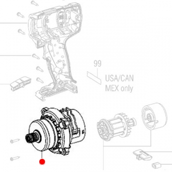 Редуктор в сборе, стандарт, METABO для дрелей-шуруповертов BS 18 (316051370)