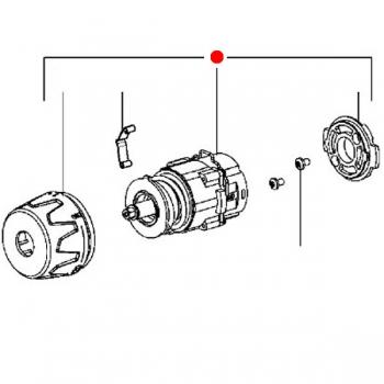 Редуктор в сборе METABO для дрелей-шуруповертов BS 18; BS 14.4; BS 12 NiCd (316043260)