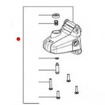 Корпус редуктора в сборе METABO для угловых шлифмашин WP (316046070)