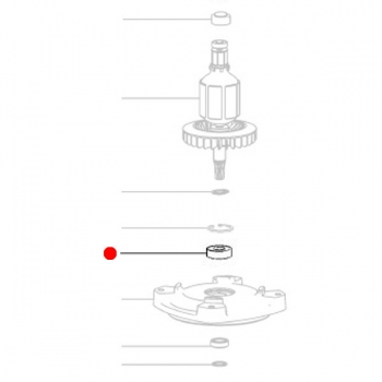 Подшипник METABO 10 x 26 x 8 для дрелей MAG 28 LTX 32 (143111120)