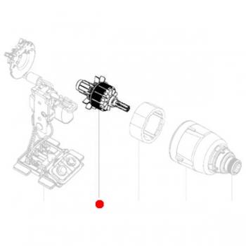 Якорь в сборе 18 V METABO для ударных гайковертов SSW 18 LTX 200 (310010870)